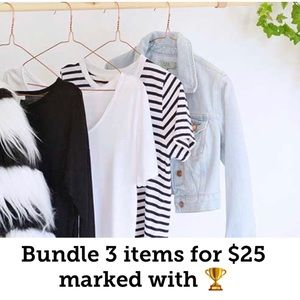 Bundle 3 items for $25 marked with 🏆